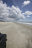 Beach is the road, ride to fishing village and Maceio beach, west of Camosim, ride with 4WD , west Jericoacoara, Ceara, Brazil