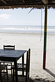 Beach Restaurant, fishing villag, Maceio beach, west Camosim, west Jericoacoara, Ceara, Brazil