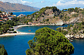 Italy, Sicily, province of Messina, Taormina, Isola Bella