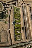 France, Western France, Charente-Maritime, Poitou-Charente, near Nieulle sur Seudre, salt marsh, aerial view