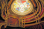 France, Paris, 9th district, Palais Garnier, Paris Opera, La Salle de Spectacle, Chagall paintings celling