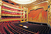 France,Paris, 9th district, Palais Garnier, Paris Opera, La Salle de Spectacle