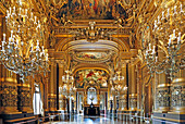 France,Paris, 9th district, Palais Garnier, Paris Opera, The Grand Foyer