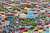 Painting in a shop of  Salvador da Bahia, the city of the Holy Saviour of the Bay of all Saints on the northeast coast of Brazil , South America