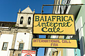 internet café and international call in Salvador da Bahia, the city of the Holy Saviour of the Bay of all Saints on the northeast coast of Brazil , South America