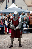 France,Seine et Marne, Fontenay Trésigny, Medieval feast, Knight about to fight