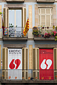 Spain, Catalonia, Barcelona, Rambla, frontage of the erotic museum
