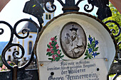 Grave of wildhunter Jennerwein in Schliersee, Upper Bavaria, Bavaria, Germany