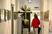original summit cross in des Werdenfels museum, Garmisch-Partenkirchen, Upper Bavaria, Bavaria, Germany