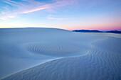 Sunrise over sand dunes, White Sands National Monument, New Mexico, United States
