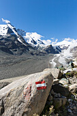 Grossglockner (3798 m), Grossglockner High Alpine Road, highest mountain in Austria, glacier retreat, melting, climate change, Hohe Tauern, Eastern Alps, Alps, Austria, Europe