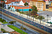Marathon on the Avenida Brasilia, Lisbon, Portugal