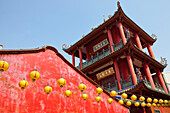 Chinese temple in Tainan, Taiwan, Republic of China, Asia