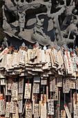 Chinesische Gebetstafeln im Kaitai Tianhou Tempel in Anping bei Tainan, Taiwan, Republik China, Asien