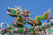 Chinese dragon at Kaitai Tianhou Temple in Anping near Tainan, Taiwan, Republik China, Asia