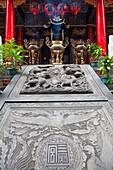 Ornamente vor einem chinesischen Tempel in Kaohsiung, Taiwan, Republik China, Asien