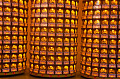 Worship candles in a buddhistic temple in Kaohsiung, Taiwan, Republik China, Asia