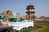 Pagode, Tempel am Lotussee in Kaohsiung, Taiwan, Republik China, Asien