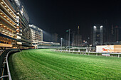 horse racecourse Happy Valley at Wan Chai District, Hongkong Island, China, Asia