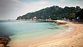 Bucht des Tung Wan Strand, Insel Cheng Chau, Hongkong, China, Asien, Langzeitbelichtung