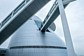 modern and futuristic architecture of Science Center, Macao, China, Asia