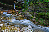 Waterfall Slap Pericnik Falls, Cascade, Vrata Valley, Zgornji, Gorenjska, Triglav National Park, Julian Alps, Slovenia, Europe