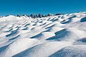 View from Salfeins to Kalkkoegel, Stubai Alps, Tyrol, Austria
