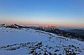 Schneealp Hut, view to Rax Alp, Muerzsteger Alps, Styria, Austria