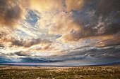 Dramatic evening clouds overlooking Kohala Coast, Island of Hawaii, Hawaii, United States of America