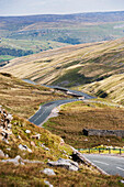 Buttertubs Pass from Hawes, heading into Swaledale, North Yorkshire, England