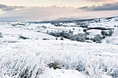 Upper Eden valley covered in snow, near Kirkby Stephen, Cumbria, England