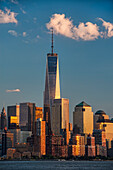 World Trade Center and Lower Manhattan at sunset, New York City, New York, United States of America