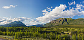 Scenic view of near Kluane Lake, Yukon Territory, Canada, Summer