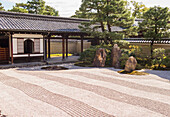 Japanese temple with rock garden, Kyoto, Japan