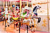 Merry-go-round horse carousel, British Columbia, Canada