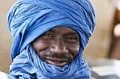 Portrait of a happy mid-adult man in turban, Mali