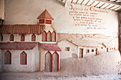 Chacabuco Church, Carved By Political Prisoners On The Wall Of A Pavilion At The Office Chacabuco, Chile, Antofagasta