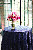 Bouquet of flowers on party table