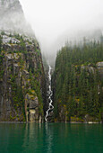 Waterfall In Tracy Arm Ford's Terror Wilderness In Tongass National Forest Southeast Alaska.