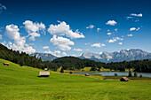 Geroldsee, Wagenbruechsee, Kruen, near Garmisch-Partenkirchen, Upper Bavaria, Bavaria, Germany