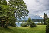 Barmsee, Kruen, near Mittenwald, Upper Bavaria, Bavaria, Germany