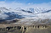View from the Muktinath valley toward Purkung Himal, Mustang, Nepal, Himalaya, Asia