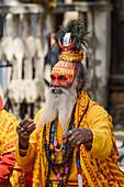 Sadhu, holy man, Kathmandu, Nepal, Himalaya, Asia