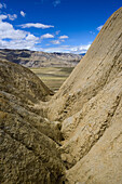 Surreal landscape typical for Mustang in the high desert around the Kali Gandaki valley, the deepest valley in the world, Mustang, Nepal, Himalaya, Asia