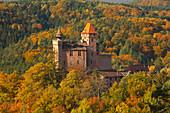 Autumn colours, near Nothweiler, Palatinate Forest nature park, Rhineland-Palatinate, Germany