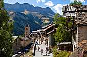 Saint Veran, one of the most beautiful villages of France, Guillestre, Queyras, Region Provence-Alpes-Côte d'Azur, Hautes-Alpes, France, Europe