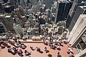 View from Rockefeller Center, Midtown, Manhattan, New York, USA
