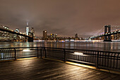 Brooklyn Bridge, Manhattan Bridge, Skyline Downtown, Manhattan, New York, USA