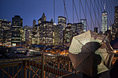 Brooklyn Bridge, Downtown, new World Trade Center, Manhattan, New York, USA