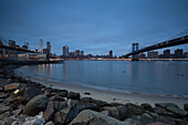Brooklyn Bridge, Manhattan Bridge, Skyline Downtown, Manhattan, New York, USA